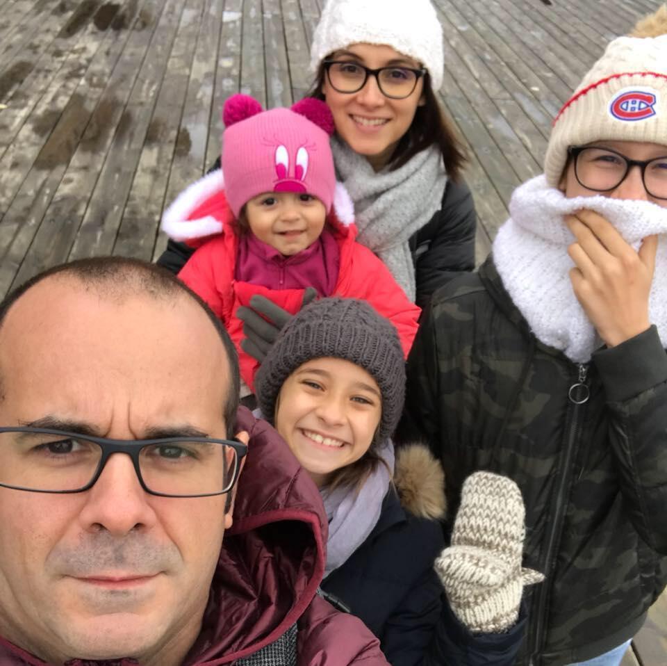 Stephane Garcia com sua família
