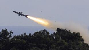 Lancement de missile sur la base militaire de Chiupeng, au sud de Taïwan, le 18 janvier 2011.