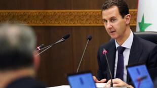 Presidente sírio Bashar al-Assad, em Maio de 2019.