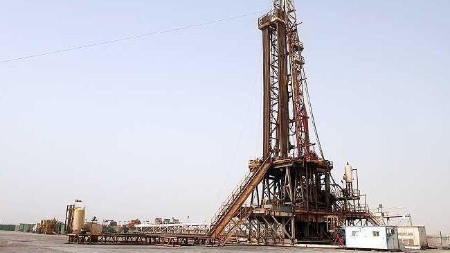 O campo petrolífero de Yadavaran, situado em Khouzestan, no sudoeste do Irã.