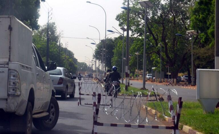 Security zone near the foreign embassies in the west of  Niamey