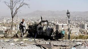 Sanaa, a capital do Iémen debaixo dos bombardeamentos