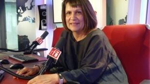 Margarita de Sainte Lorette en los estudios de RFI