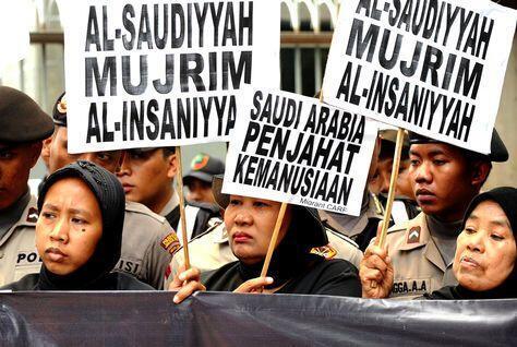 Biểu tình phản đối các hành vi bạc đãi phụ nữ Indonesia