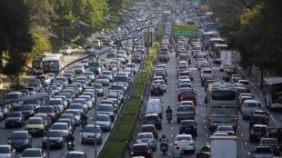 Congestionamento em São Paulo