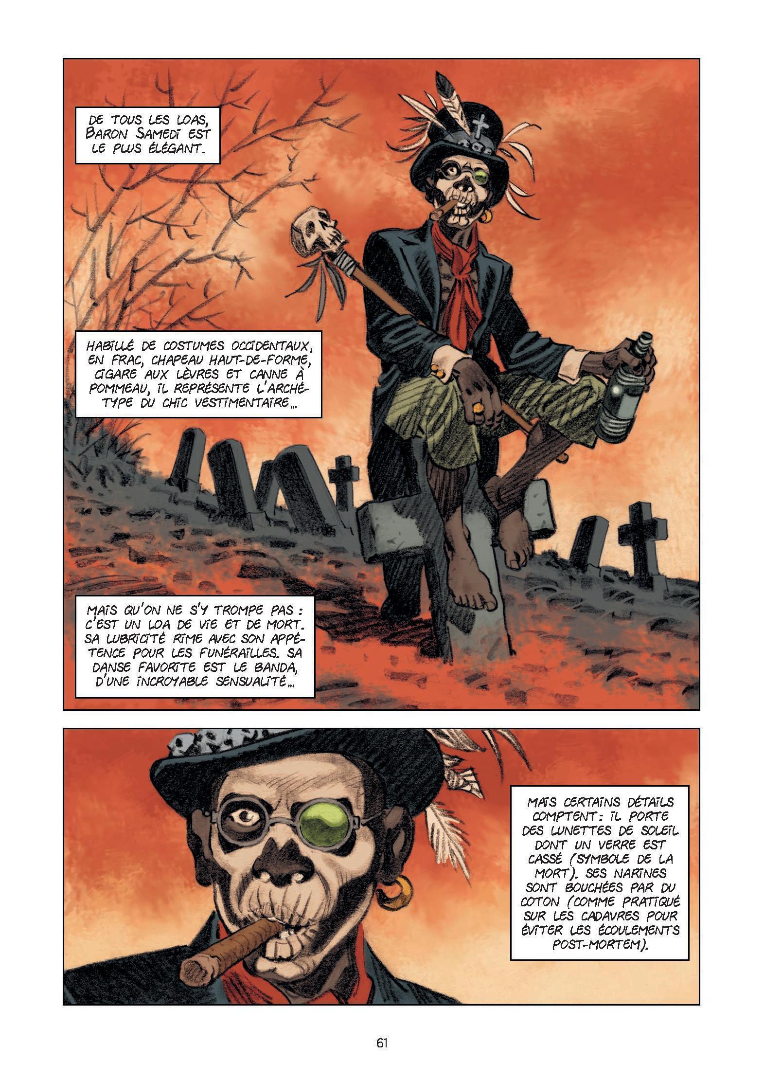 Baron Samedi est le Loa de la mort et de la résurrection.