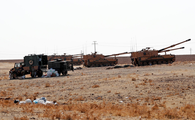 L'armée turque, près de la frontière dans la région de Şanlıurfa, le 13 octobre 2019.