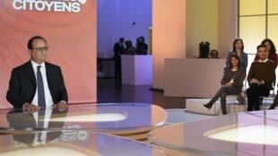 14.04.2016. Франсуа Олланд на программе «Гражданский диалог»