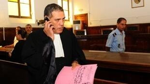 One of Ben Ali's defence lawyers, Abdessatar Massoudi, before the trial which opened on Monday