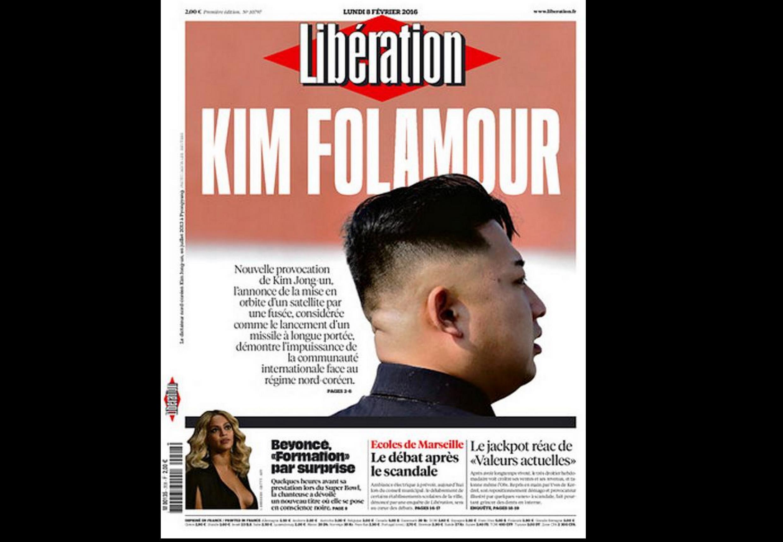 Capa do jornal francês Libération desta segunda-feira, 8 de fevereiro de 2016.