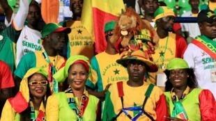 Supporters sénégalais, CAN 2017.