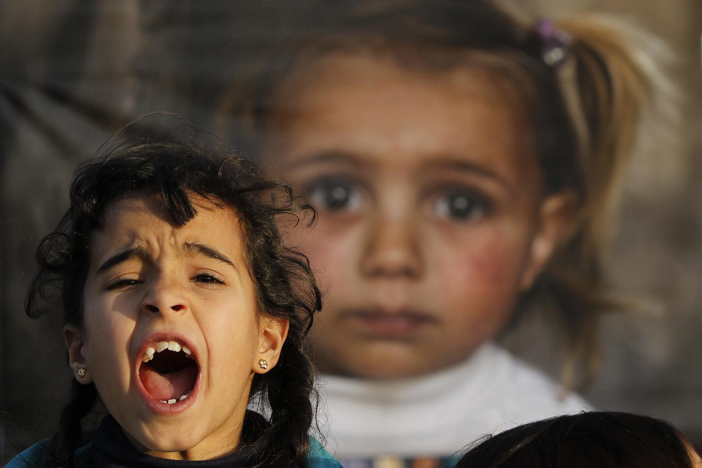 Lors d'une manifestation contre la tenue de la conférence de Genève 2, à Amman, en Jordanie, le 22 janvier.