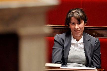 Fadela Amara, ancienne secrétaire d'Etat française chargée de la Politique de la Ville, à l'Assemblée nationale.