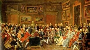 """描述启蒙时期法国沙龙文化的画作""""Une soirée chez Madame Geoffrin"""""""