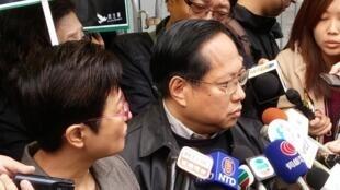 香港泛民主立法会议员何俊仁2015年3月2日香港