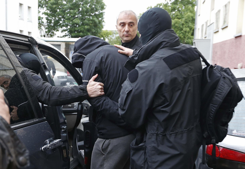 L'arrestation d'un jihadiste présumé, le 13 mai 2014 dans le quartier de Meinau, à Strasbourg.