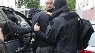 French special Police forces arrest suspected jihadists, Strasbourg, 13 May 2014.