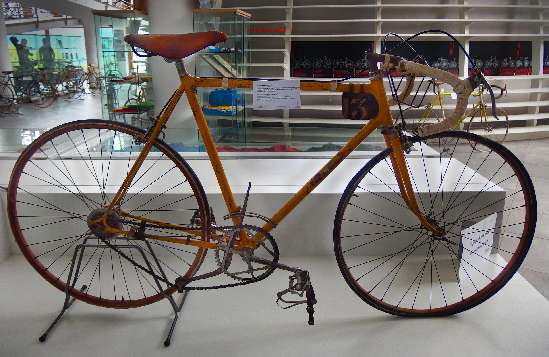 Bicicleta utilizada por Gino Bartali en su primer Tour de Francia 1938