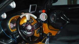 """Inside a """"pimped"""" car"""