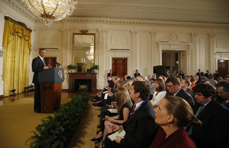 Barack Obama en conférence de presse, le 9 août 2013 à Washington.