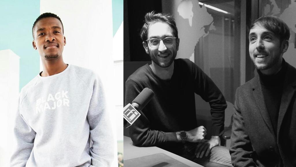 Dj Lag à Durban, mai 2018 (Justine McGee) - Vincent Merlet et Sébastien Forrester à RFI (RFI/Laurence Aloir).