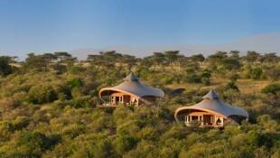 """Mahali Mazuri significa """"lugar hermoso"""" en Swahili. Este es el campamento para safari de Sir Richard Branson en Kenia."""