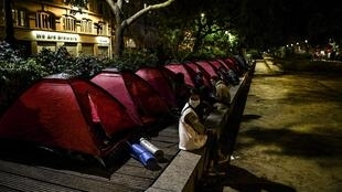 Acampamento migrantes