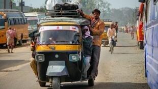 Rue en Inde.