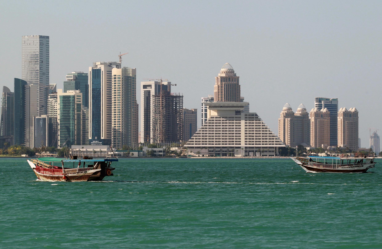 Vue de Doha. La logistique maritime est bouleversée pour le Qatar.