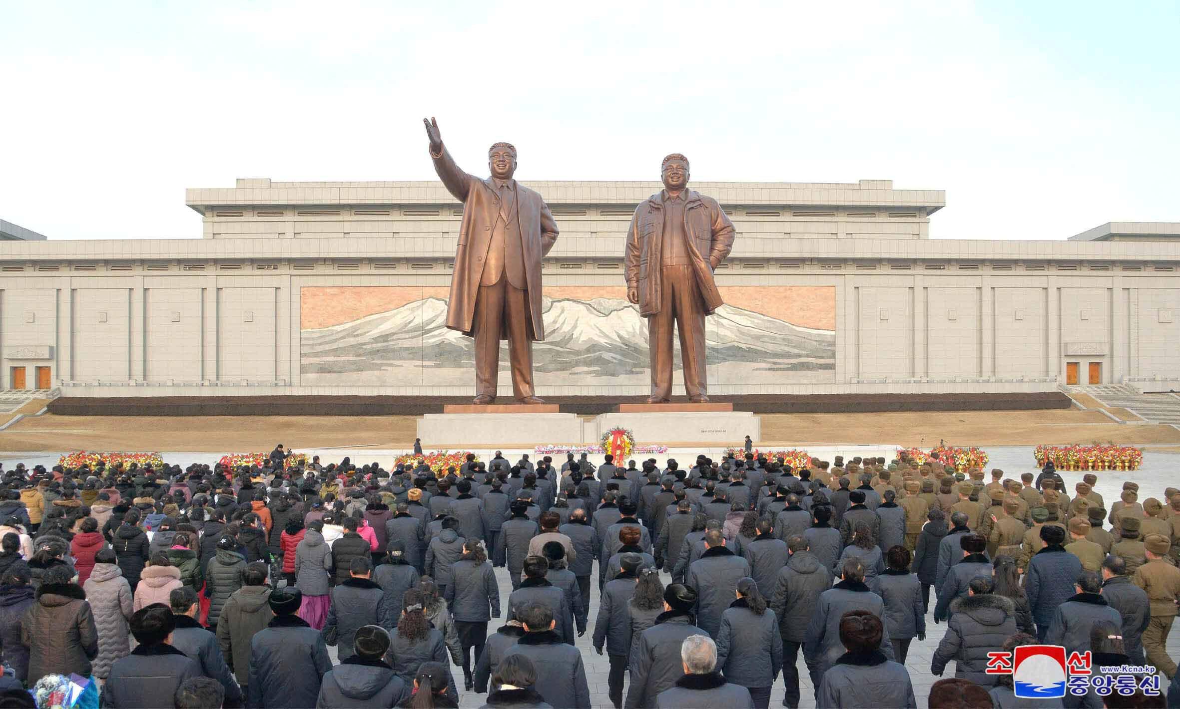 Lễ kỷ niệm 71 năm ngày thành lập quân đội Bắc Triều Tiên, tại Bình Nhưỡng. Ảnh do KCNA công bố ngày 08/02/2019