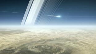 «Кассини», финальный спуск к Сатурну, 15 сентября 2017 года.