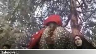 تصویر منتشرشده از درگیری یک دختر جوان با مامور زن نیروی انتظامی