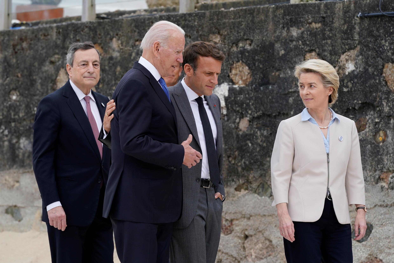 美歐領導人參加七國集團峰會資料圖片