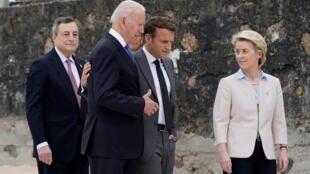 美欧领导人参加七国集团峰会资料图片