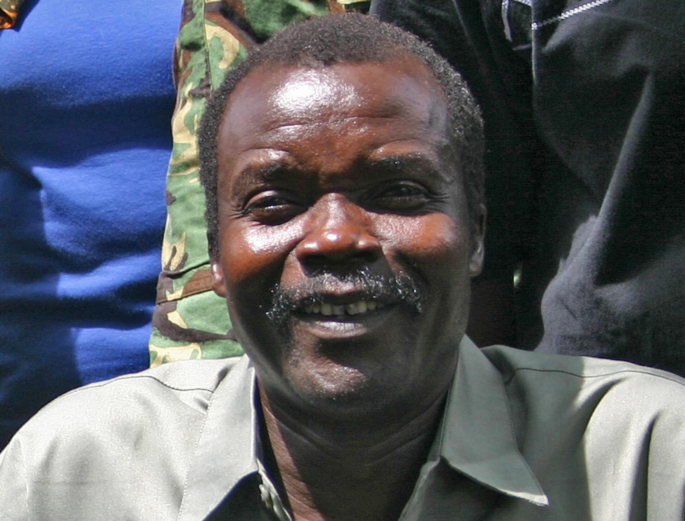 Joseph Kony au Sud-Soudan en 2008.