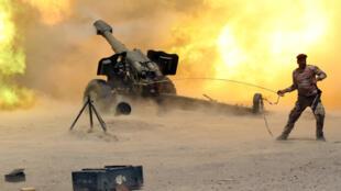 Les forces irakiennes ont donné l'assaut, le 30 mai 2016, à Fallouja, bastion du groupe Etat islamique (EI) en Irak.