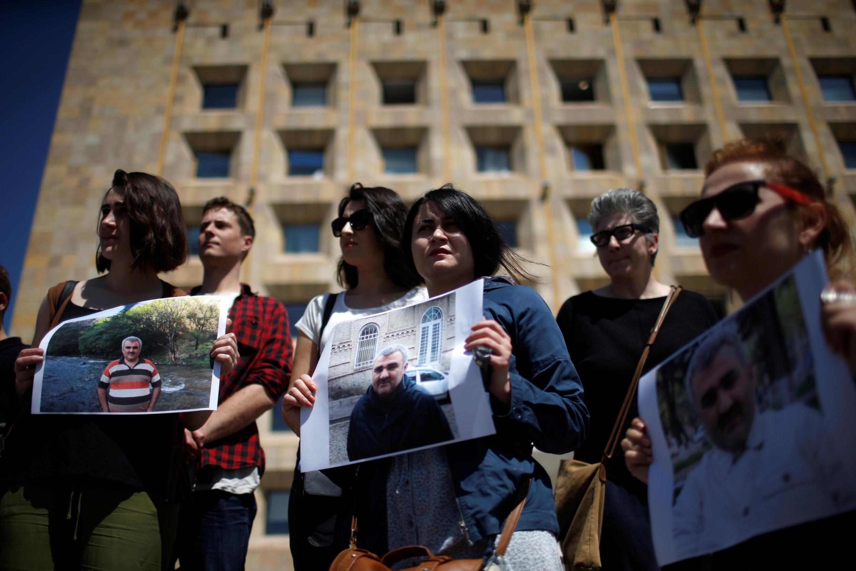 Пикет в защиту журналиста Афгана Мухтарлы в Тбилиси 31 мая 2017 года