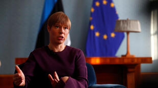 ប្រធានាធិបតីអេស្តូនី លោកស្រី Kersti Kaljulaid  នៅរដ្ឋធានី Tallinn ប្រទេសអេស្តូនី  ២២ មរា២០១៩ 