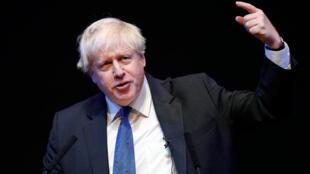 L'ex-ministre britannique des Affaires étrangères Boris Johnson lors de son discours au congrès des conservateurs à Birmingham, le 2 octobre 2018.