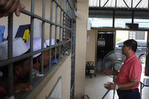 Trung tâm Ayutthaya ở miền Nam Thái Lan, nơi giam giữ hàng ngàn người tỵ nạn Rohingya Miến Điện.