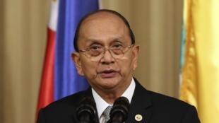Le président birman Thein Sein, le 5 décembre 2013.