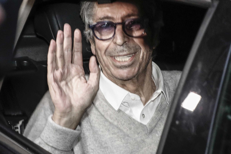 Patrick Balkany, le maire de Levallois-Perret, à sa sortie de la prison de la Santé, le 12 février 2020.