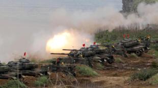 Chiến xa M60A3 tham gia cuộc tập trận thường niên của Đài Loan tại Bành Hồ (Penghu) - Đài Loan - ngày 25/05/2017.
