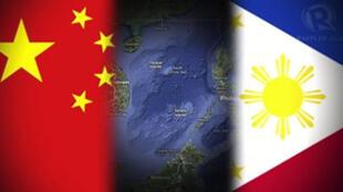 圖為網絡關於中國與菲律賓關係配圖