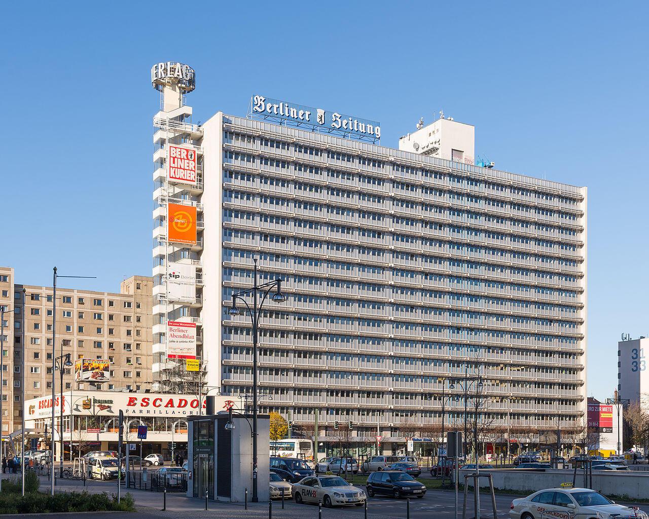 Trụ sở nhật báo Berliner Zeitung ở Berlin, Đức.