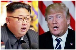 美国总统特朗普与朝鲜领导人金正恩。