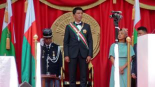 Le président Andry Rajoelina, lors de la cérémonie d'investiture du 19 janvier 2019, à Antananarivo.