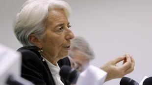 La patronne du FMI pendant sa conférence de presse à Moscou, le 8 novembre 2011.