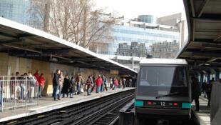 """Станция """"Бастилия"""" на первой линии парижского метро"""