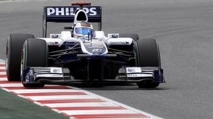 Barrichello pilota Williams durante o Grand Prix de Montmelo.
